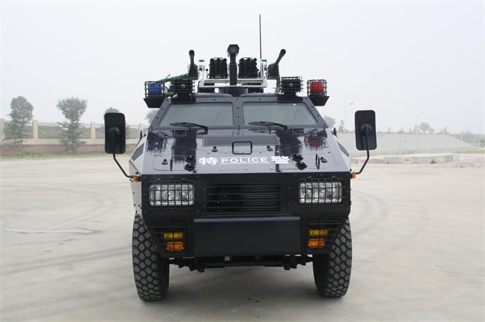 (for police use)装甲驱散车正视图