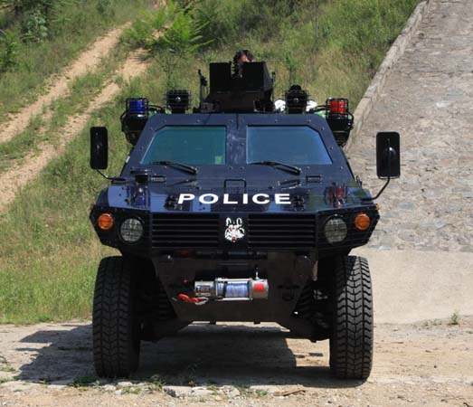 """(for police use)""""野狼""""(armored vehicle)正面图"""