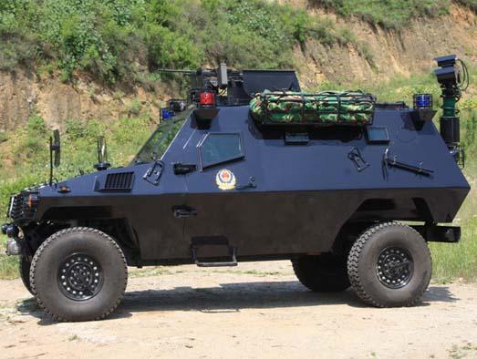 "(for police use)""野狼""(armored vehicle)侧视图"
